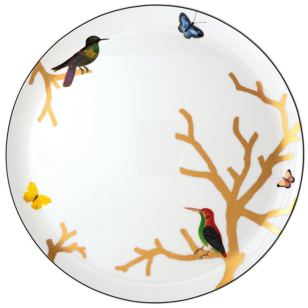 BERNARDAUD Aux Oiseaux Tart Platter - Round