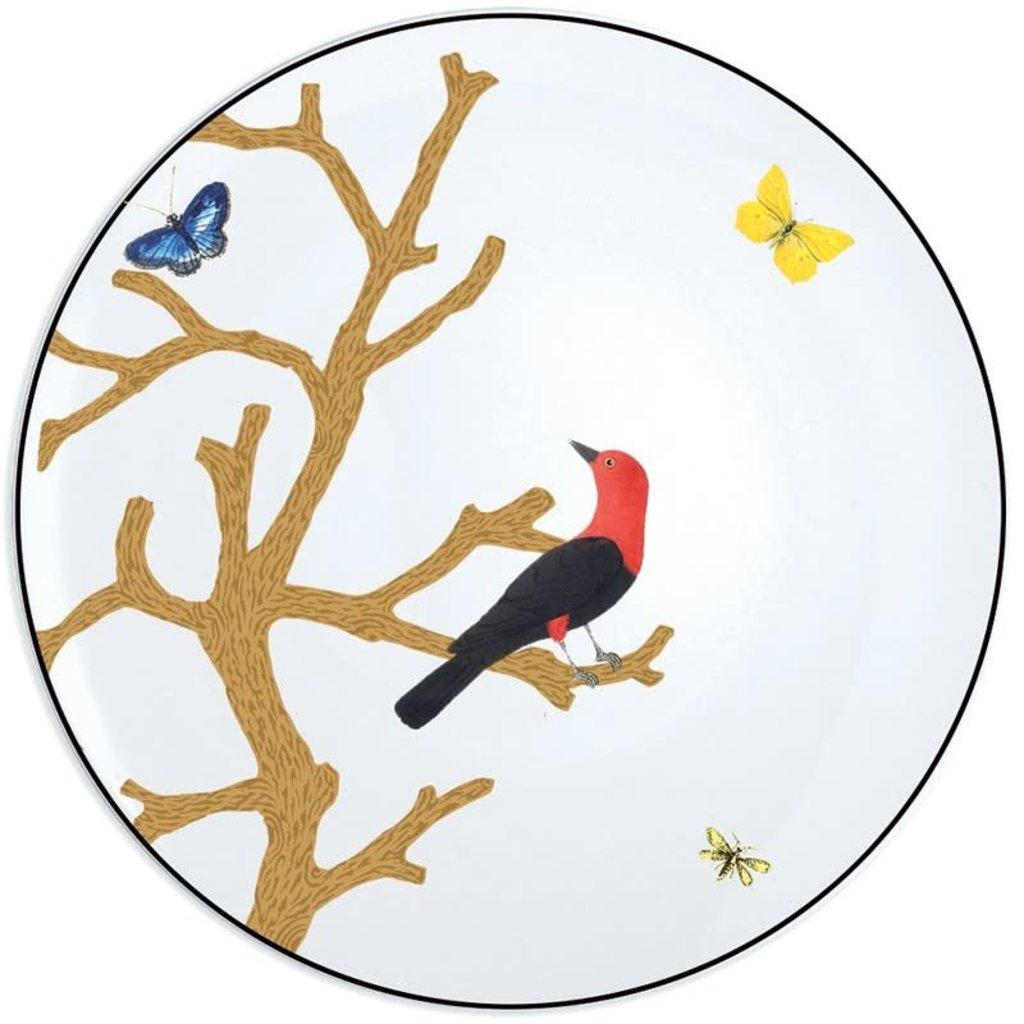 """BERNARDAUD Aux Oiseaux Coupe Bread & Butter Plate - 6.3"""""""