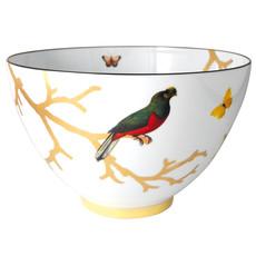 """BERNARDAUD Aux Oiseaux Soup Bowl - 4.3"""""""
