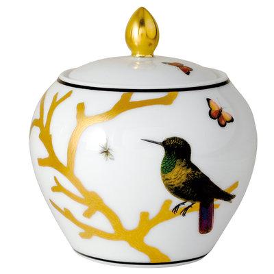 BERNARDAUD Aux Oiseaux Sugar Bowl (Boule Shape)