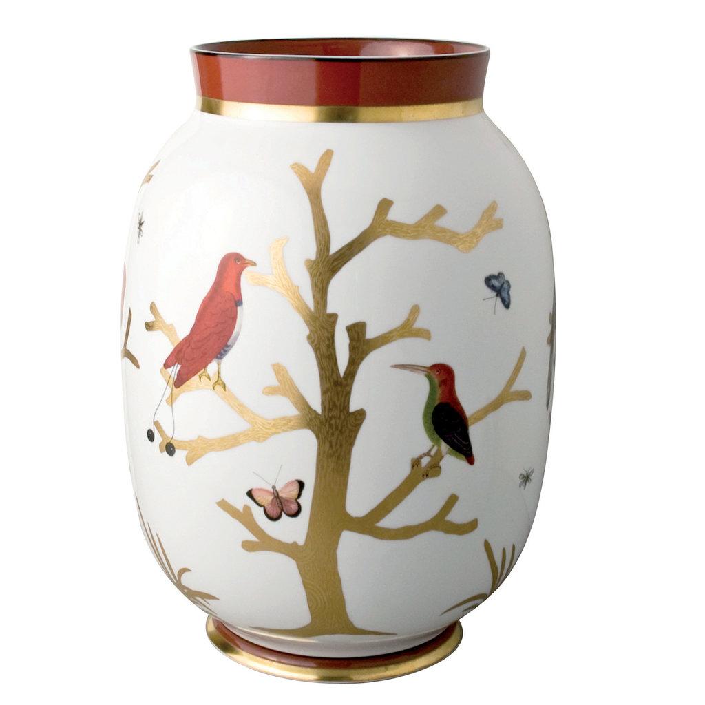 "BERNARDAUD Aux Oiseaux Toscan Vase 13.6"""