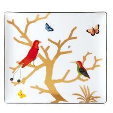 "BERNARDAUD Aux Oiseaux Rectangular Tray 8""X7"""