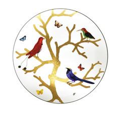 BERNARDAUD Aux Oiseaux Ultra Flat Plate-12In