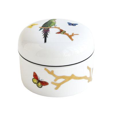 BERNARDAUD Aux Oiseaux Box With Lid