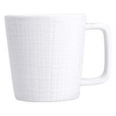 BERNARDAUD Organza White Mug 8.5 Oz