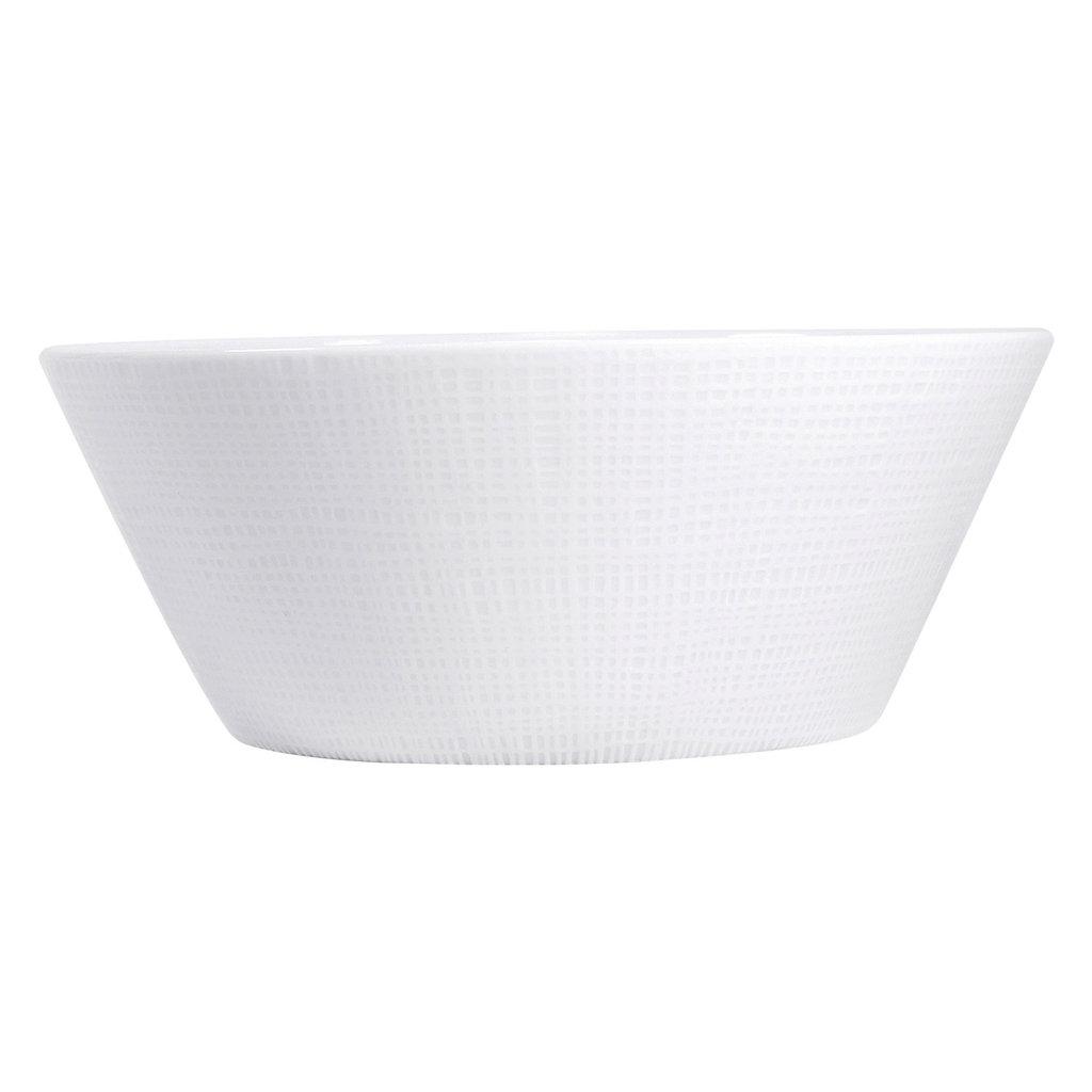 BERNARDAUD Organza White Salad Bowl 9.5''