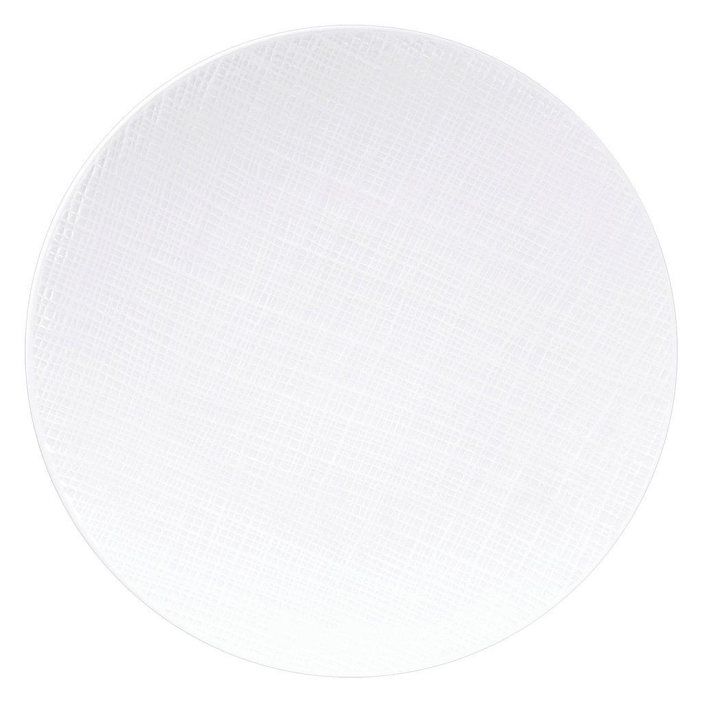 BERNARDAUD Organza White Coupe Service Plate 11.6''