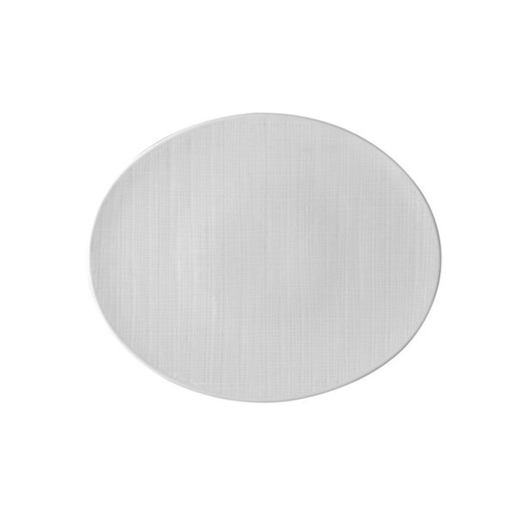 BERNARDAUD Organza White Tapas Plate 9.8''