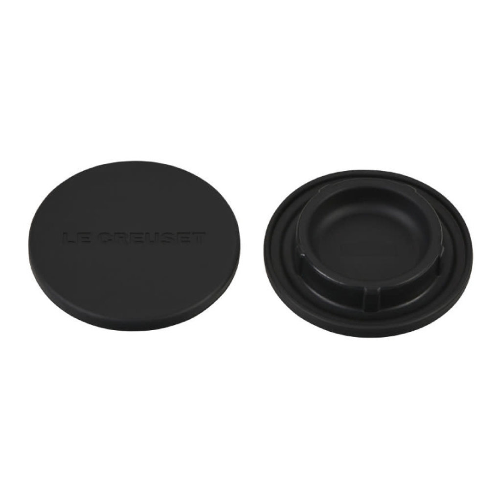 LE CREUSET Set Of 2 Silicone Mill Caps Black