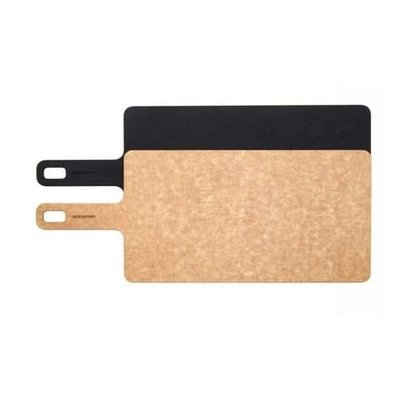 """Handy Series Cutting Board Natural / Slate With Riveted Handle 14 X 7.5"""" -"""