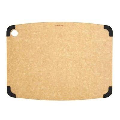 "Non-Slip Series Cutting Board Natural / Slate 17.5 X 13"""