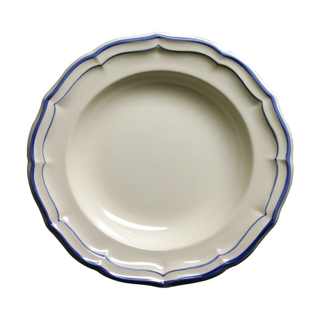 Filet Bleu Assiette Creuse Chaque 22.5 Cm - 9''