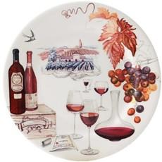 Bouquet Ensemble De 4 Assiettes De Vin De Dessert 22 Cm - 8 2/3''