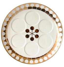"REED & BARTON Futura Sedar Plate Gold Decal 13 X 15"""