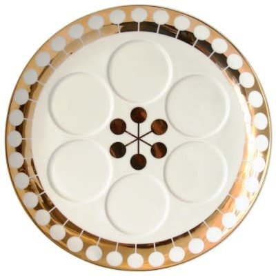 REED & BARTON Futura Sedar Assiette Gold Decal 13 X 15""