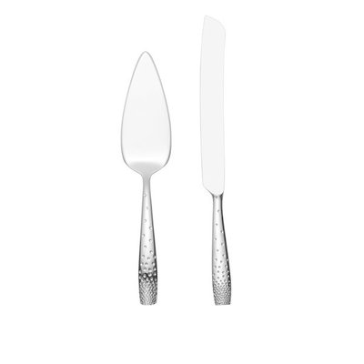 Dazzle Cake And Knife Server Set