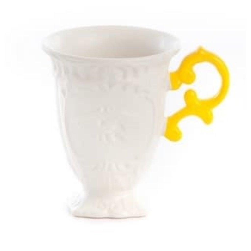 """I-Wares"" Porcelain Mug - Cm.10 H.11,5 - Yellow"