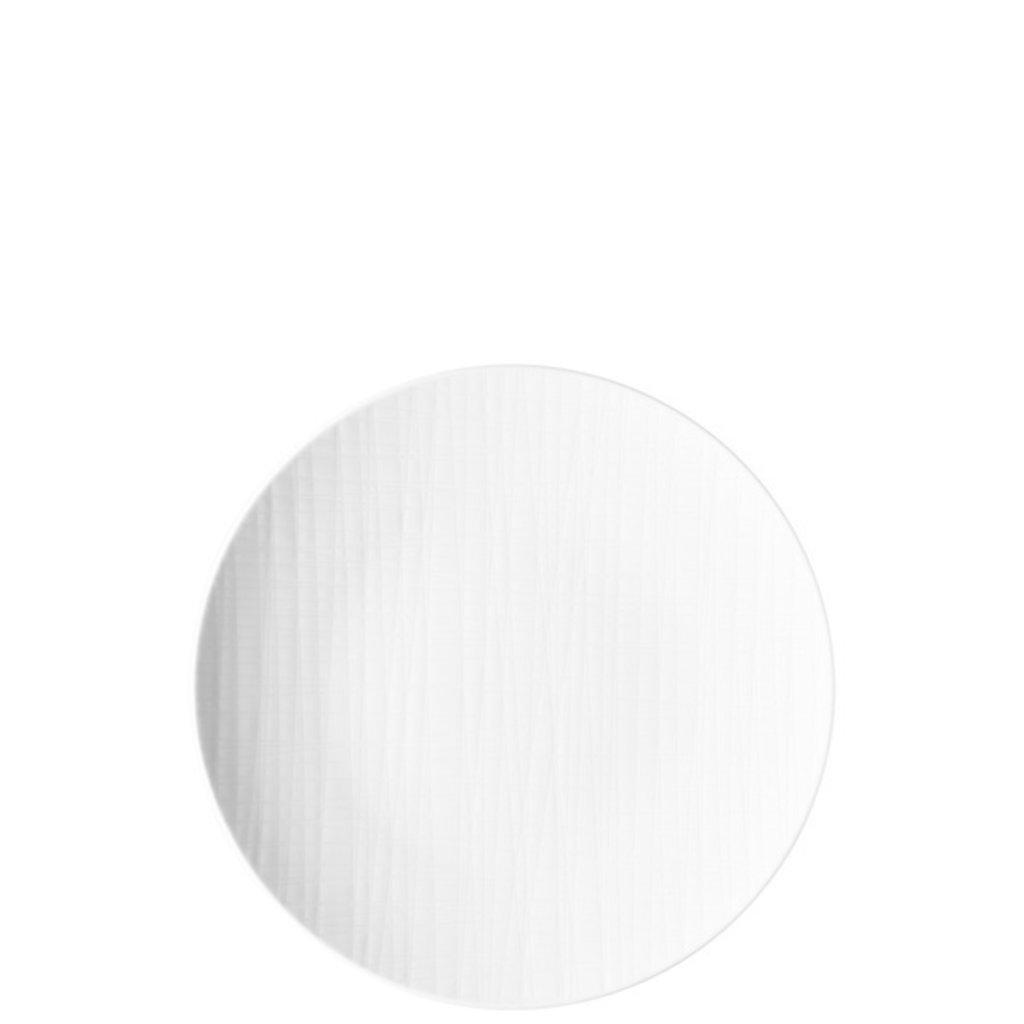 Mesh White Flat Round Plate 9.5''