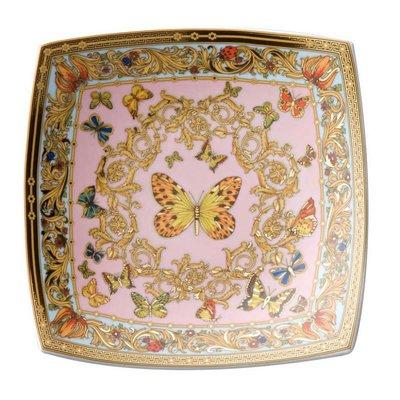 Butterfly Garden Candy Dish Porcelain 5 1/2'' Square