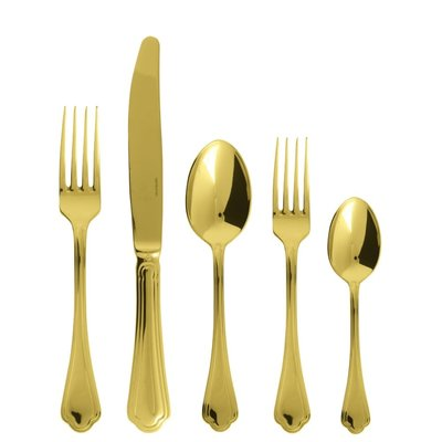 SAMBONET Filet Toiras Gold 5 Piece Place Setting S.H Stainless Steel