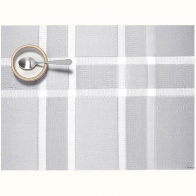 "CHILEWICH Interlace Table Mat Rectangle Silver 14 X 19"" - 36 X 48 Cm -"
