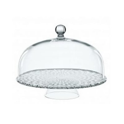 Bossa Nova Tea Time Cake Plate With Dome