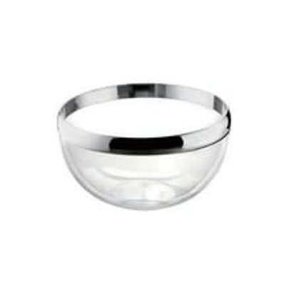 Look Bowl Clear With Chrome 24 Cm