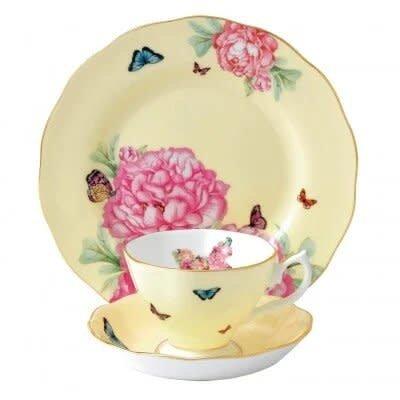 ROYAL ALBERT Miranda Kerr Joy 3 Piece Set Teacup - Saucer - Plate