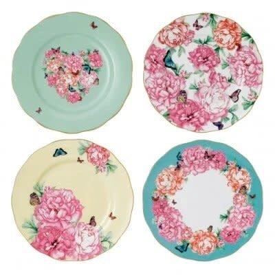 ROYAL ALBERT Miranda Kerr Accent Plates Set/4 - 8'' (Blessing - Devotion - Joy - Gratitude)