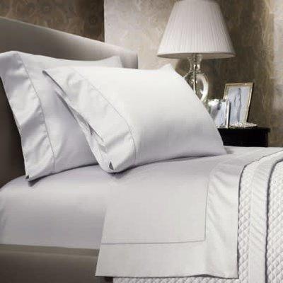 624 Sateen Flat Sheet Queen Deco White