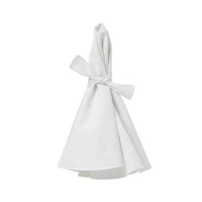 Napa Napkins White With White Hem Set Of 4