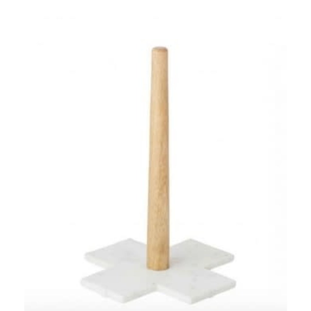 Academy Eliot Marble & Mango Wood Paper Towel Holder -