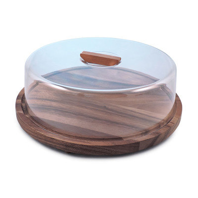 Acacia Serving Board With Dome Round