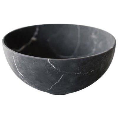 Casa Mineral Grande Bowl In Black Marble 12 X 6''