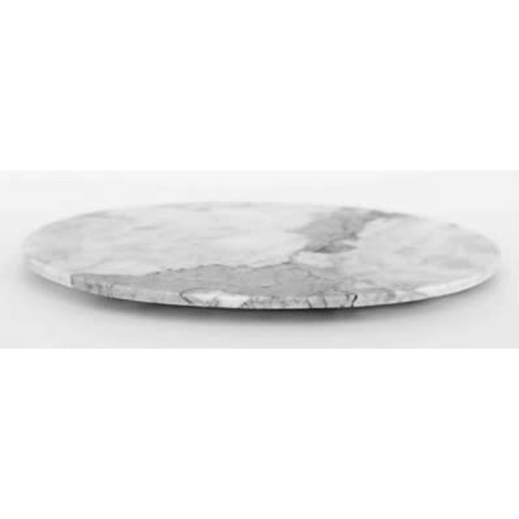 """Casa Mineral Oval Serving Platter In Grey Marble 13.75 X 10"""""""