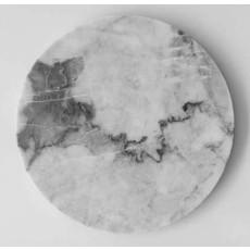 "Casa Mineral Circular Serving Platter In Grey Marble 12"""