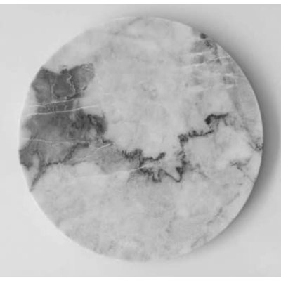 Casa Mineral Circular Serving Platter In Grey Marble 12""