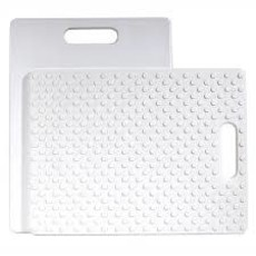 Gripper Cutting Board White 11 X 14""