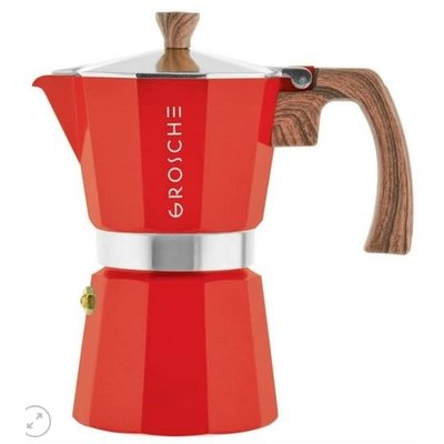 Milano Espresso Maker 3 Cups Red