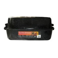 Covered Rectangular Roaster Black