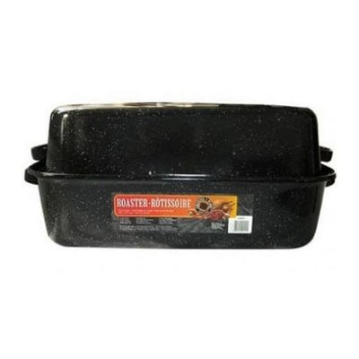 Covered Rectangular Roaster Black