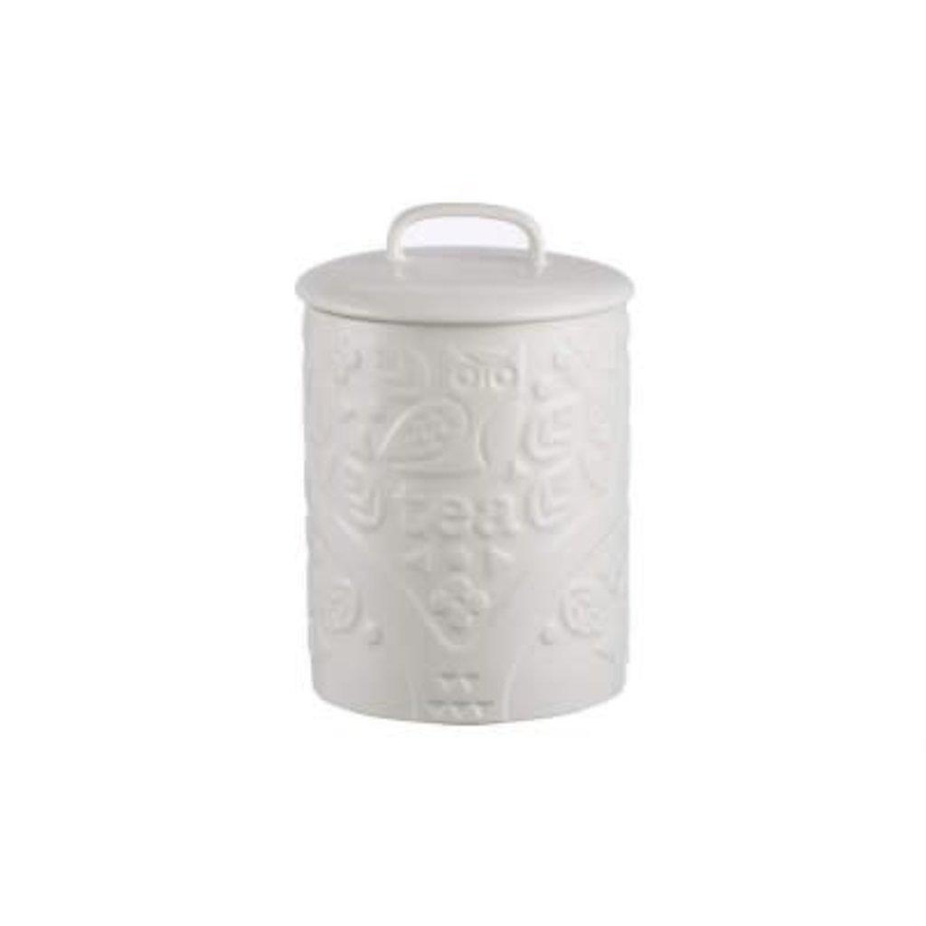 PORT-STYLE Mason Cash Forest Tea Jar Cream Owl 16.5 X 11.5 Cm - 750 Ml