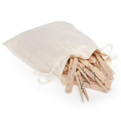 PORT-STYLE Redecker Clothes Pegs Jumbo In A Cotton Bag 20 Pieces