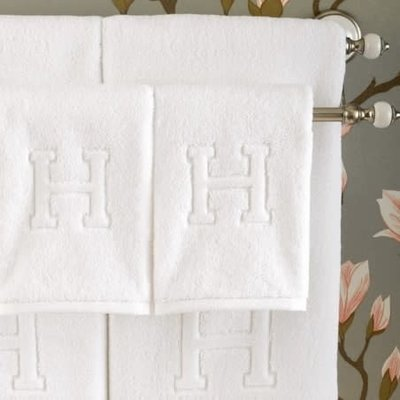 Auberge Wash Cloth White 12X12