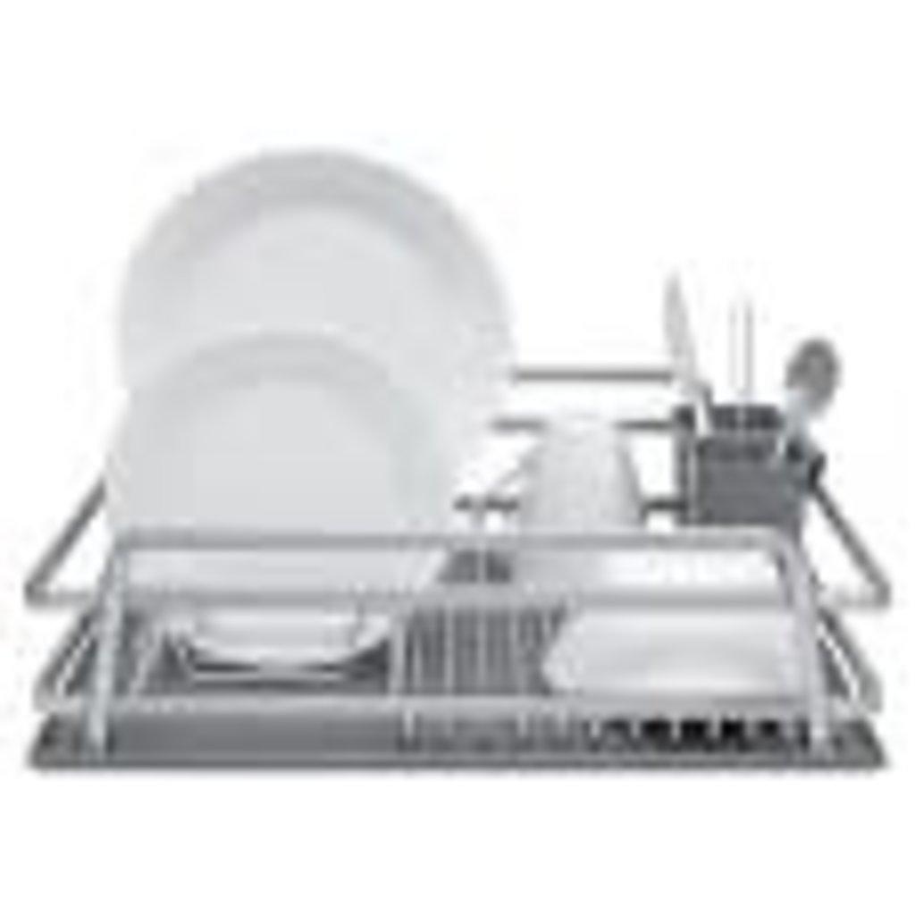 "Ta Da Single Level Dish Rack With Drysmart Silicone Mat 21 X 14.75"""