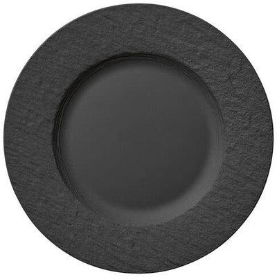 VILLEROY & BOCH Manufacture Rock Noir Assiette De Dîner Chaque 10.5''