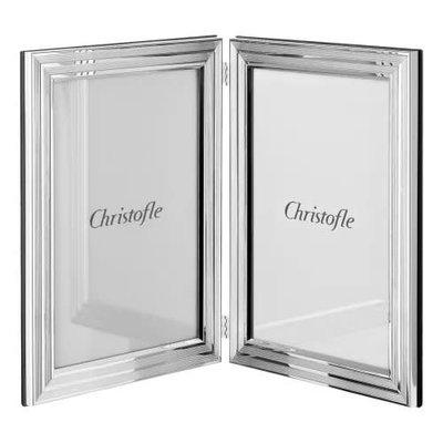 CHRISTOFLE Filets Cadre À Photo En Double En Métal Argenté Chaque 3 15/16 X 5 9/10''