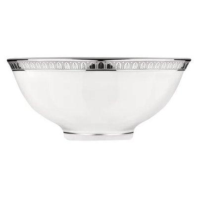 CHRISTOFLE Malmaison Bol À Soupe Chinois En Platine Et Porcelaine Chaque 4 1/3'' - 11 Cm