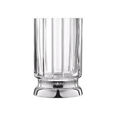 CHRISTOFLE Malmaison Vase Petite En Cristale Et Argent Chaque 7 1/2'' - 19 Cm