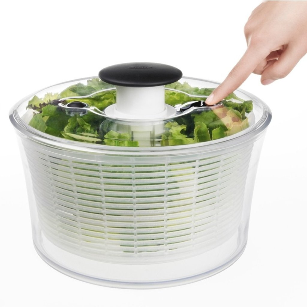 OXO Salad Spinner Transparent 10.5 X 6''